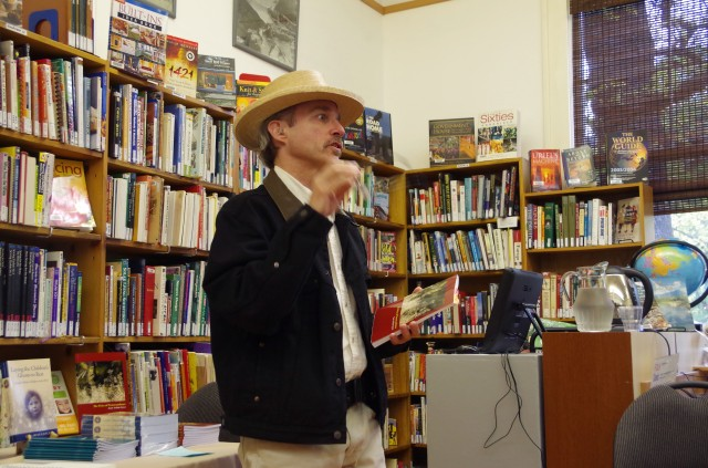 Launching the book at the Slocan Community Library May 15. Photo Anne Champagne